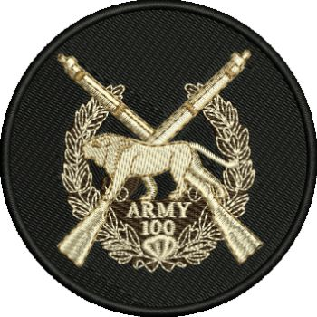 ARMY 100 Embroidered Badge